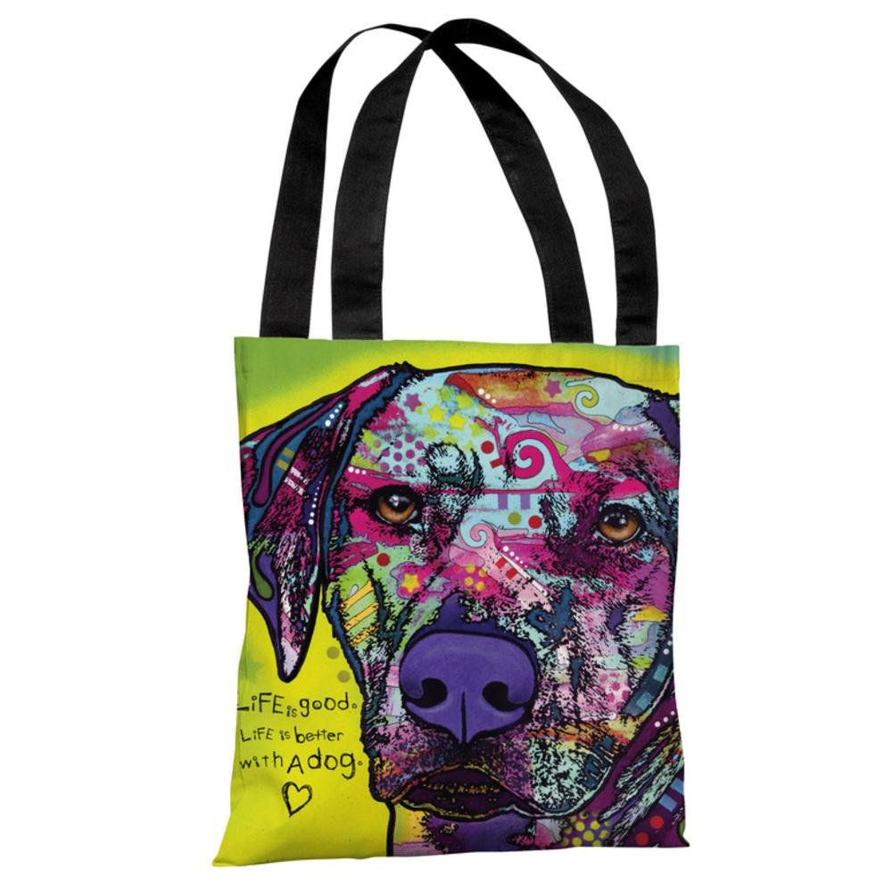 One Bella Casa 72126TT18P 18 in Rhodesian Ridgeback with Text Polyester Tote Bag by Dean Russo