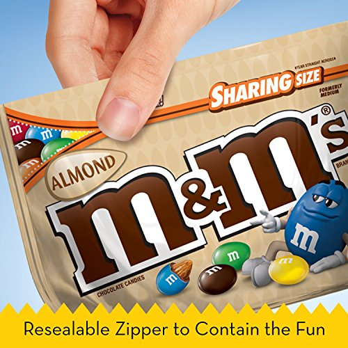 M&M'S Almond Chocolate Candy Sharing Size 9.3-Ounce Bag (Pack of 8) by M&M'S (Image #4)