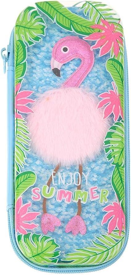 Akaddy - Estuche de goma EVA para lápices, diseño de dibujos animados, color rosa, color azul: Amazon.es: Oficina y papelería