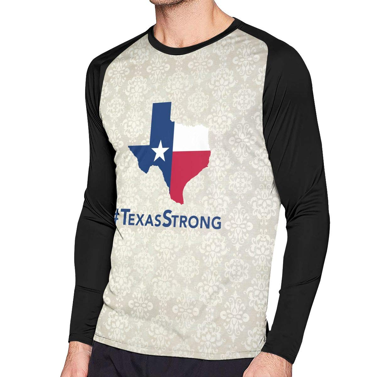 Men T-Shirt Casual Texas Strong Long-Sleeved T-Shirt Top for Men