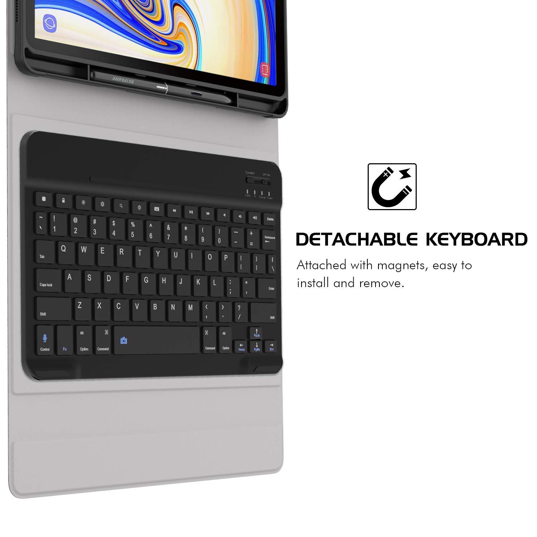 custodia per samsung galaxy tab con tastiera bluetooth incorporata