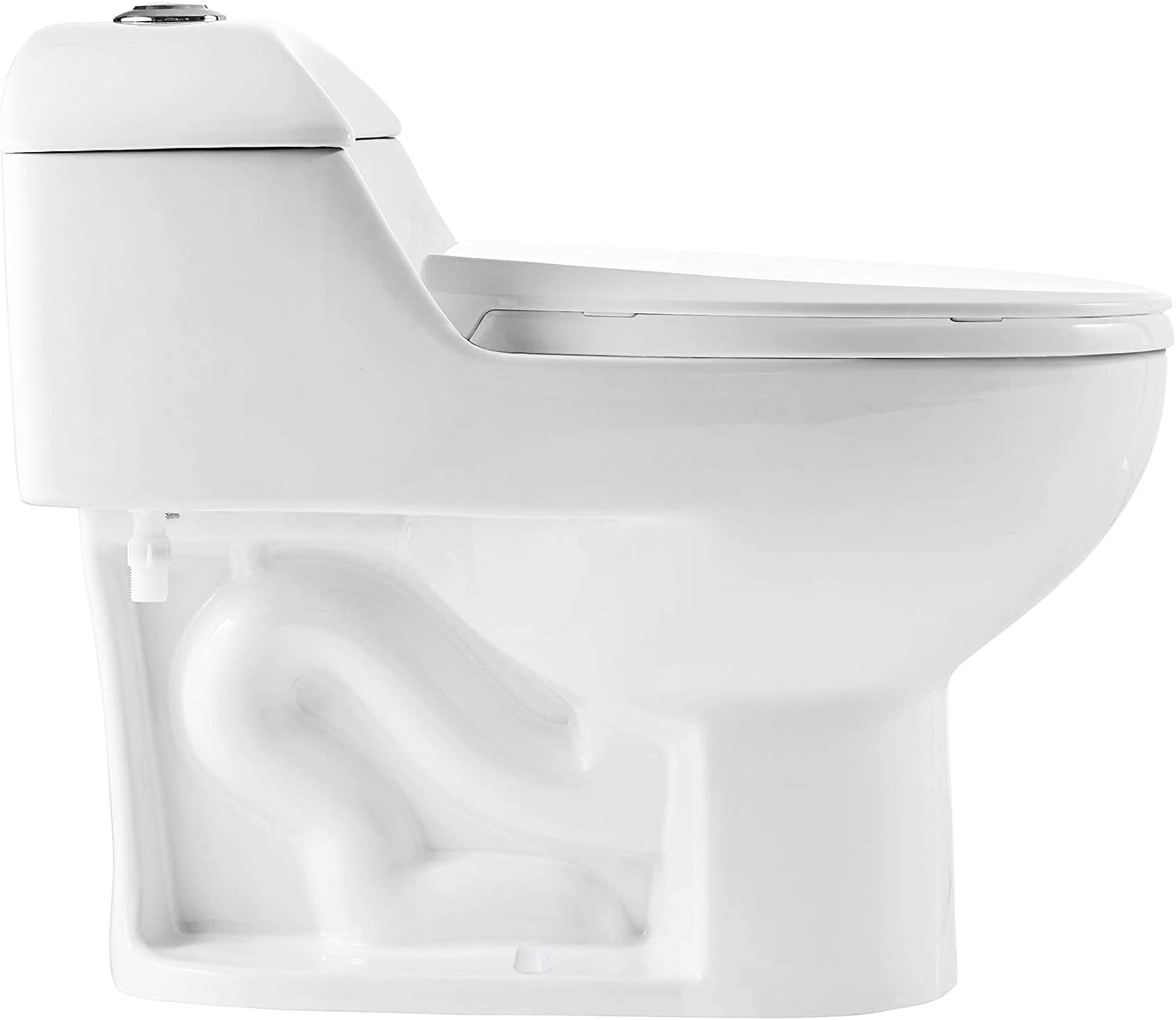 Swiss Madison Well Made Forever SM-1T803 Chateau One Piece Toilet, Glossy White - -