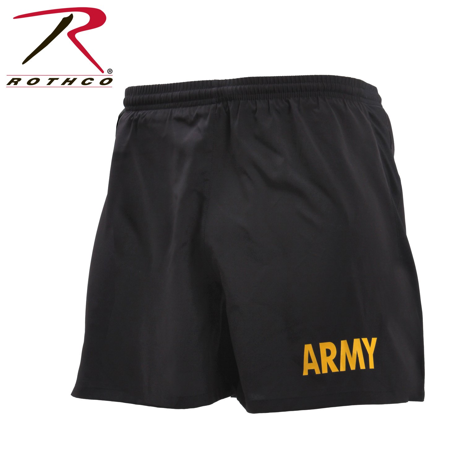 Rothco Army Physical Training Shorts, 2XL Black/Gold by Rothco
