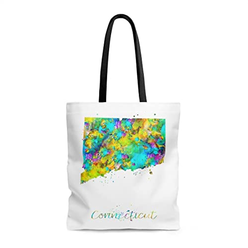 Amazon.com: Connecticut Map Tote Bag, Books Bag, Beach Bag, Shopping ...
