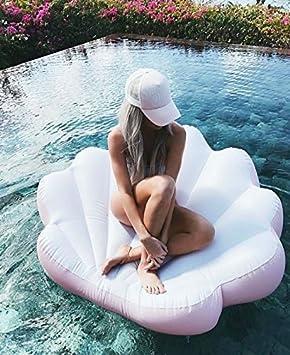 Amazon.com: Almeja, caracola inflable flotante color rosa ...