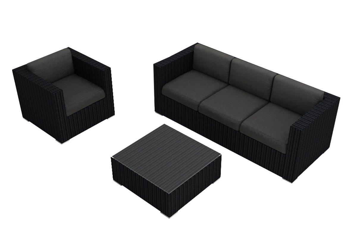 Amazoncom Harmonia Living Urbana 3 Piece Sofa Set Canvas