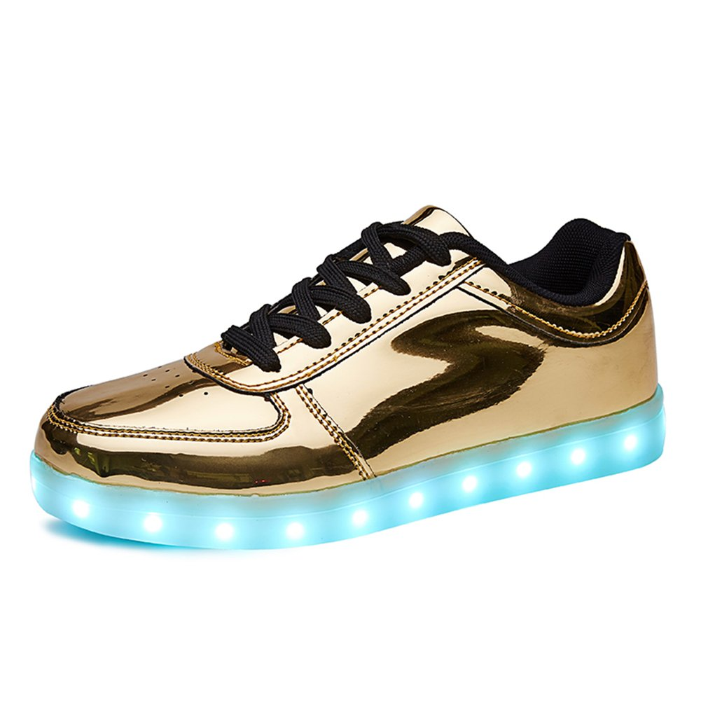 54615ea3aa72 Galleon - Sanyes USB Charging Light Up Shoes Sports LED Shoes Dancing  Sneakers SYDB551-Gold-39