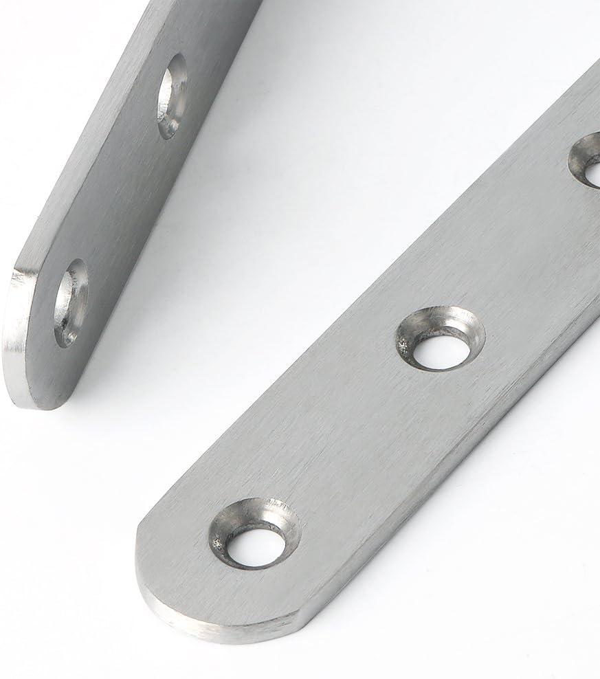 Alise 4 Pcs Shelf Bracket Stainless Steel Brackets Heavy Duty Corner Brace Support Fastener Wall Hanging,JM80B-4P Black