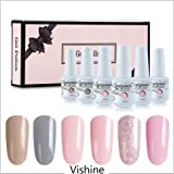 Vishine 6Pcs Soak Off LED UV Gel Nail Polish Varnish Nail Art Starter Kit Beauty Manicure Collection Set C002