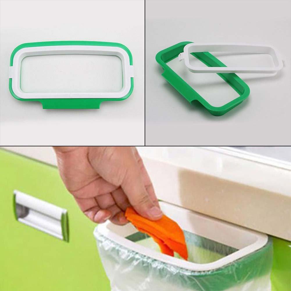 PUAK523immondizia Hanger, porta armadio cabinet portellone stoccaggio cestino della spazzatura da cucina, da appendere sacchetti Trash rack, Green, Taglia libera