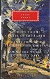 img - for Three Novels: Journey to the Center of the Earth / Twenty Thousand Leagues Under the Sea / Round the World in Eighty Days book / textbook / text book