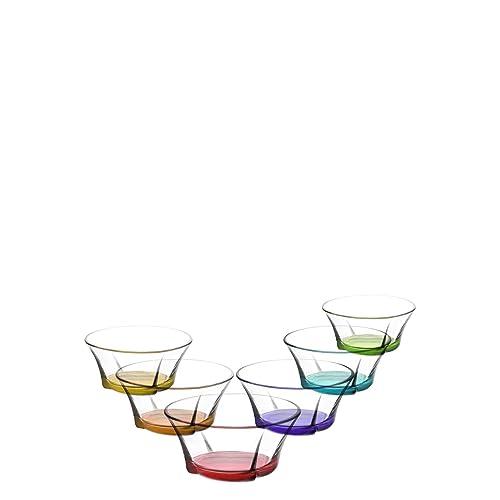 Gurallar Artcraft Dessert/Starter Bowl/Glass Bowl/Colourful 310cc Pack of 6