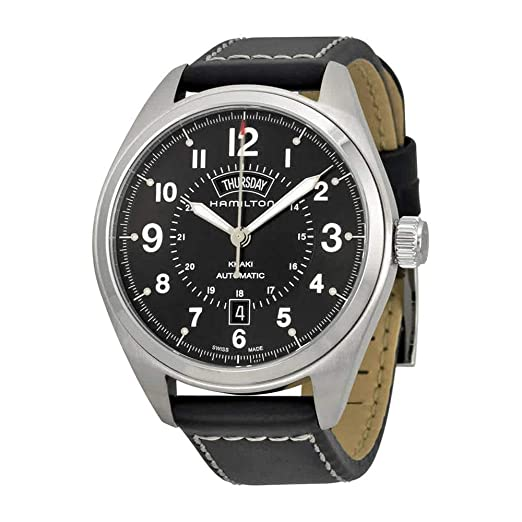 HAMILTON KHAKI FIELD RELOJ DE HOMBRE AUTOMÁTICO 42MM CORREA DE CUERO H70505733: Hamilton: Amazon.es: Relojes