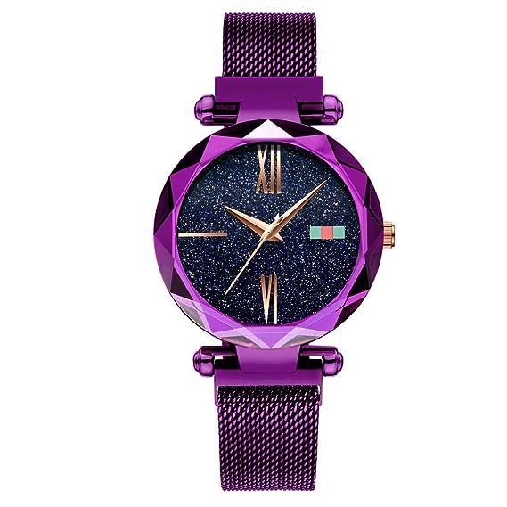Relojes para Mujeres Marca de Lujo Deportes Analógicos Reloj de Cuarzo Acero Inoxidable Mesh Negocios Mujer Dress Slim Casual Business Reloje de Pulsera: ...