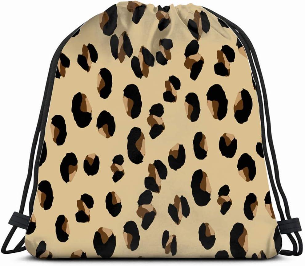 Bright Animal Print Drawstring Backpack