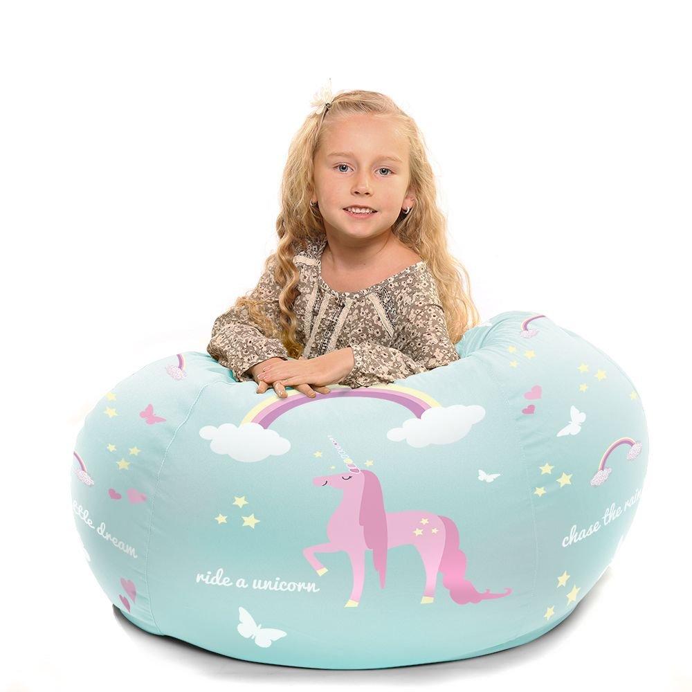 Personalised Kids Unicorn Beanbag Medium