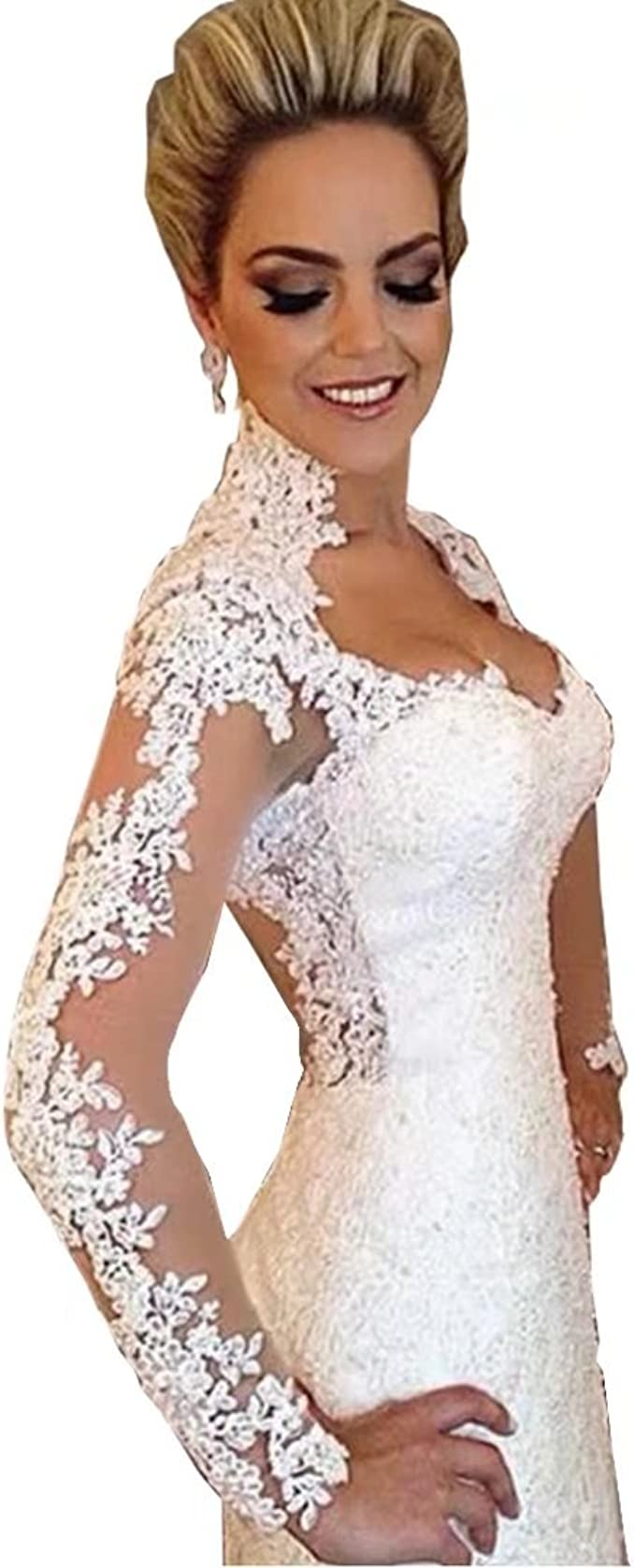 size 2 Lace Wedding Dress Vintage 60s Bridal Dress Long Lacy Retro Bride Dress White Lace Wedding Gown Wedding Gown with Train