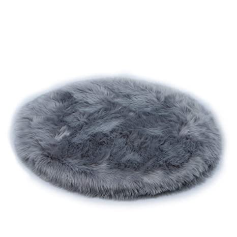HLZDH oveja de piel sintética Felpudo alfombra Antideslizante Lujosa Suave Lana artificial Alfombra para salón dormitorio baño sofá silla cojín (60 X ...