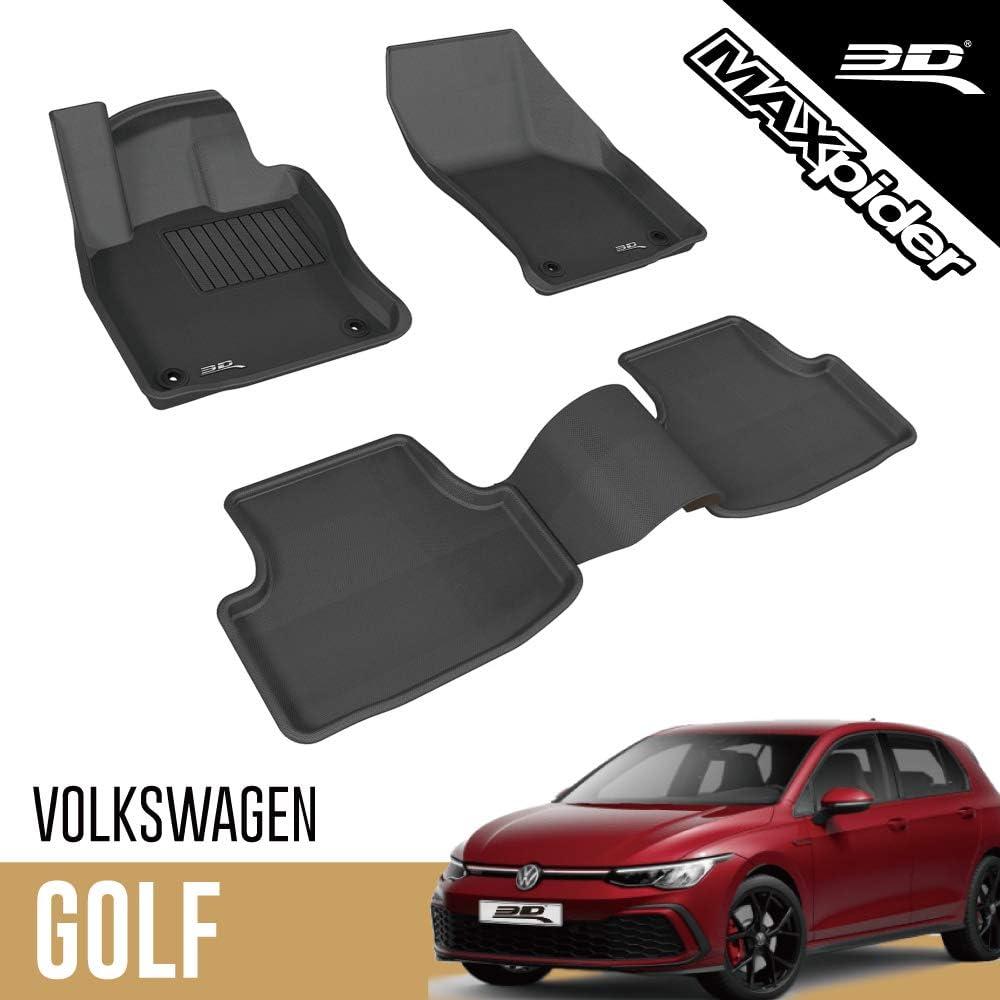3d Maxpider Volkswagen Vw Golf 7 Golf Variant Mk7 2013 2020 Passgenaue Allwetter Fußmatten Gummi Auto Matten Fussmatten Gummimatten Kagu Serien 1 Und 2 Reihe Schwarz Auto