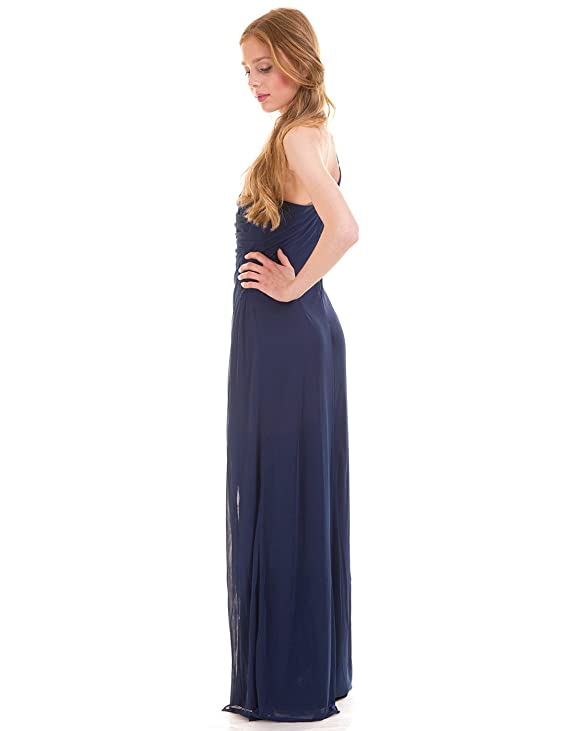 Vestido fiesta escote asimétrico visalome de Vila Clothes (XS - Azul): Amazon.es: Ropa y accesorios