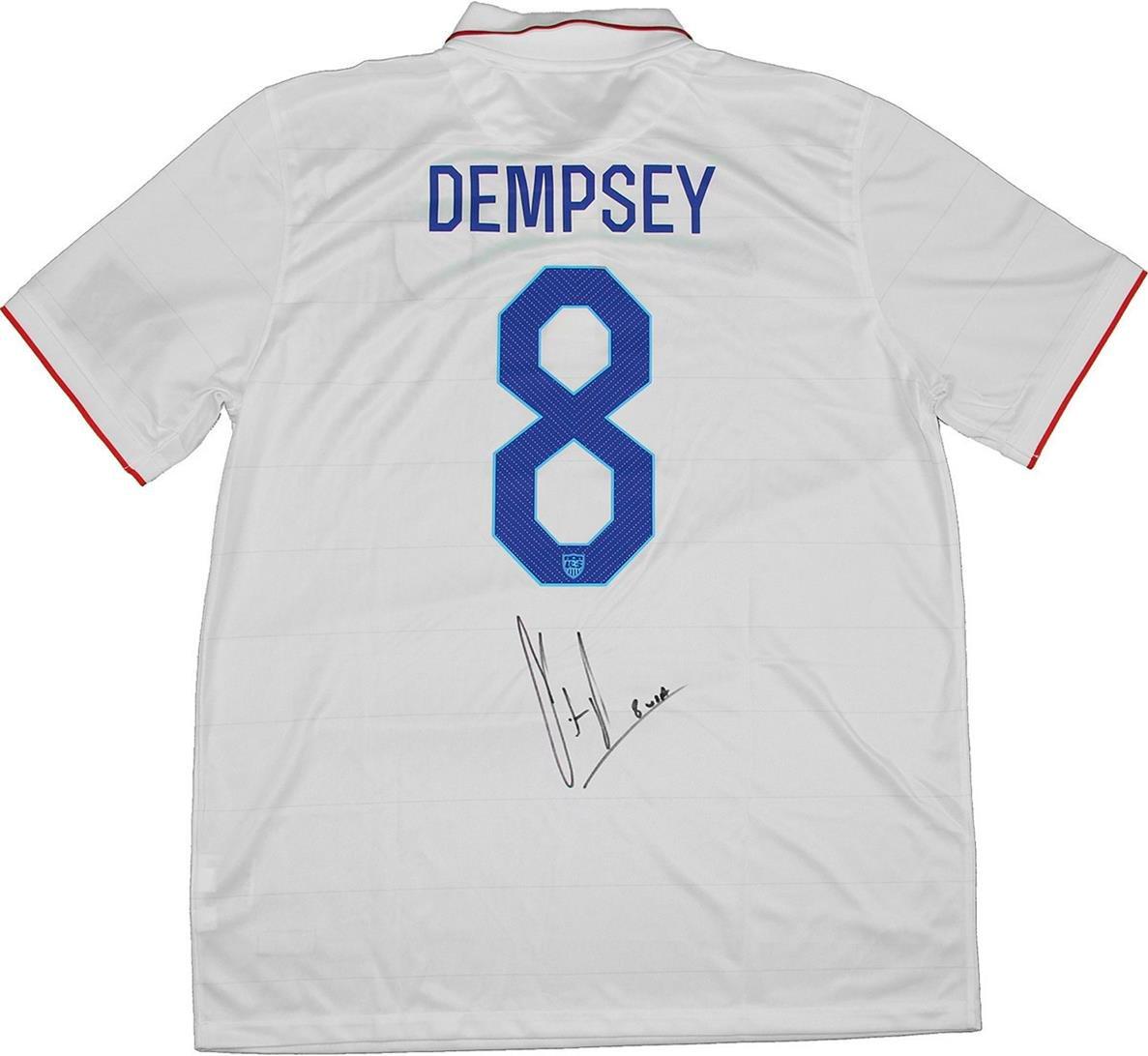 4bdcafe78 best MLS Team USA Clint Dempsey Signed Replica White jersey - test ...
