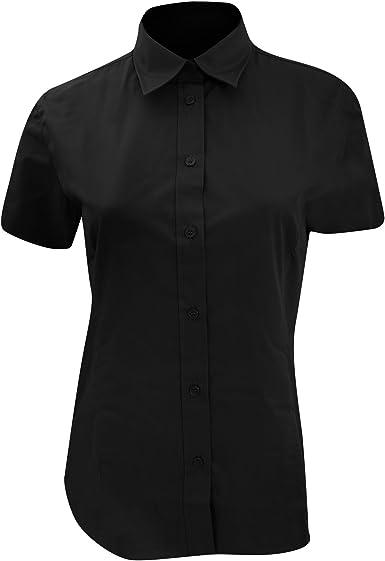 KUSTOM KIT- Camisa de Trabajo de Manga Corta para Mujer