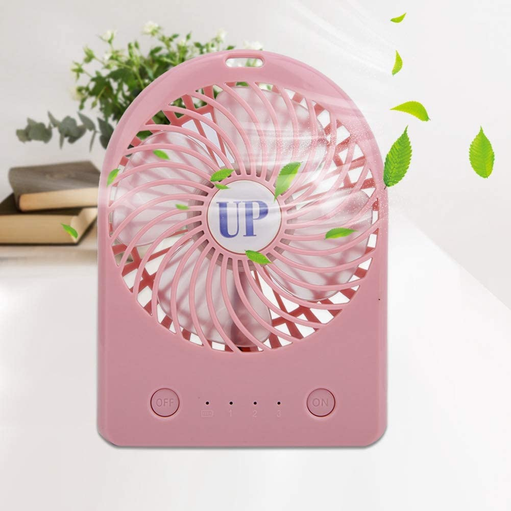 Zerone 1Pc Portable Mini Handheld Cooling Fan USB Rechargeable Desktop Adjustable Wind Fans