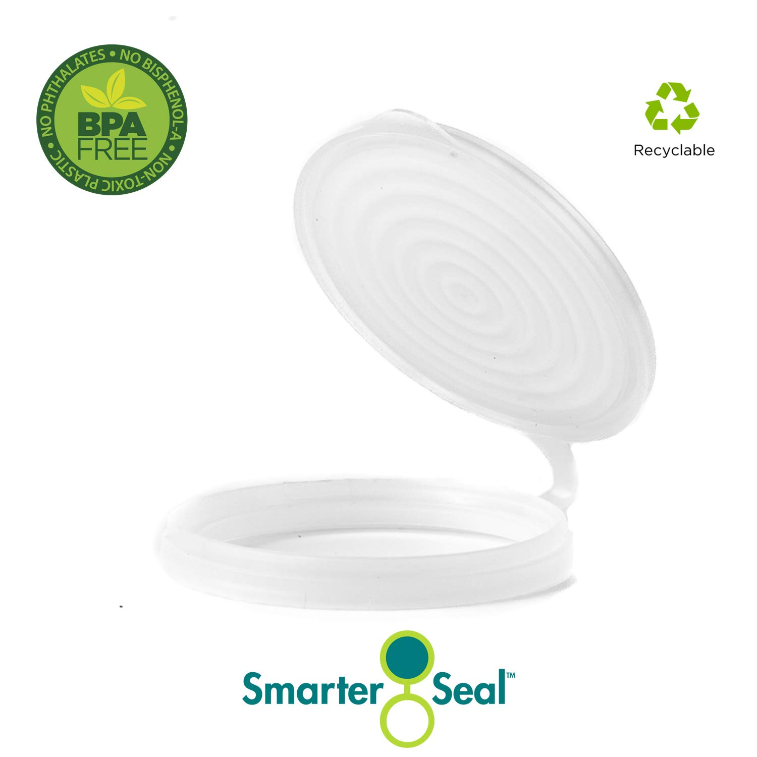 2-Pack, Clear Color, Soda or Beverage Can Lid, Cover or Protector by Smarter-Seal (Image #2)
