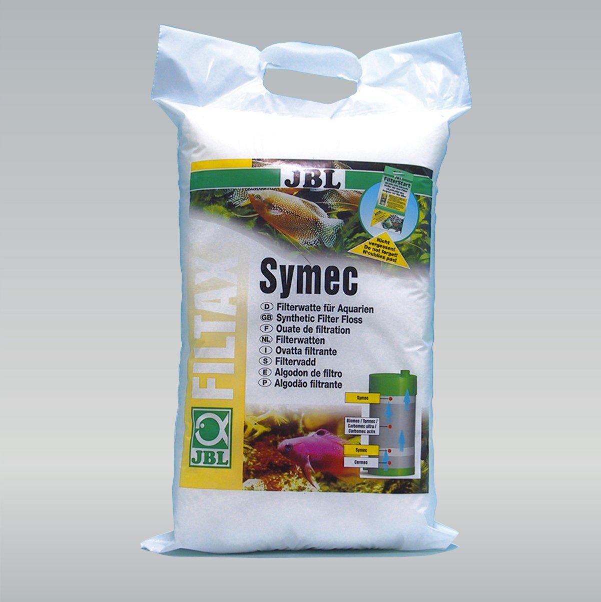 JBL Symec Ouate filtrante 1000g, Ouate filtrante pour filtre d'aquarium contre toutes les turbidités de l'eau 62345