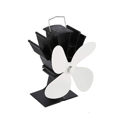LasVogos Ventilador de Chimenea de Potencia térmica Ventilador de Estufa de leña Alimentado por Calor Ventiladores
