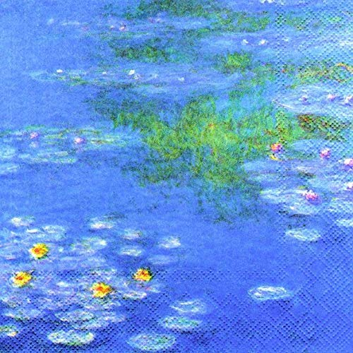 Monet: Waterlilies 33 x 33cm 4 Paper Napkins for Decoupage 4 Individual Napkins for Craft /& Napkin Art. 3-ply