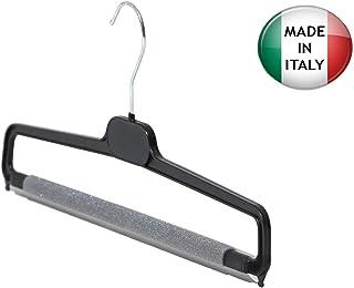 regolabili metallo cromato 40 cm 5 x Grucce in legno per gonna // pantaloni con clip IL GIGANTE DEL PORTABITO antiscivolo