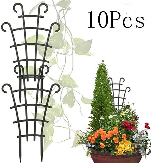 INFILM Enrejado de plástico para Plantas de Plantas de Plantas, Jardines, jardineras, 10 Unidades: Amazon.es: Jardín