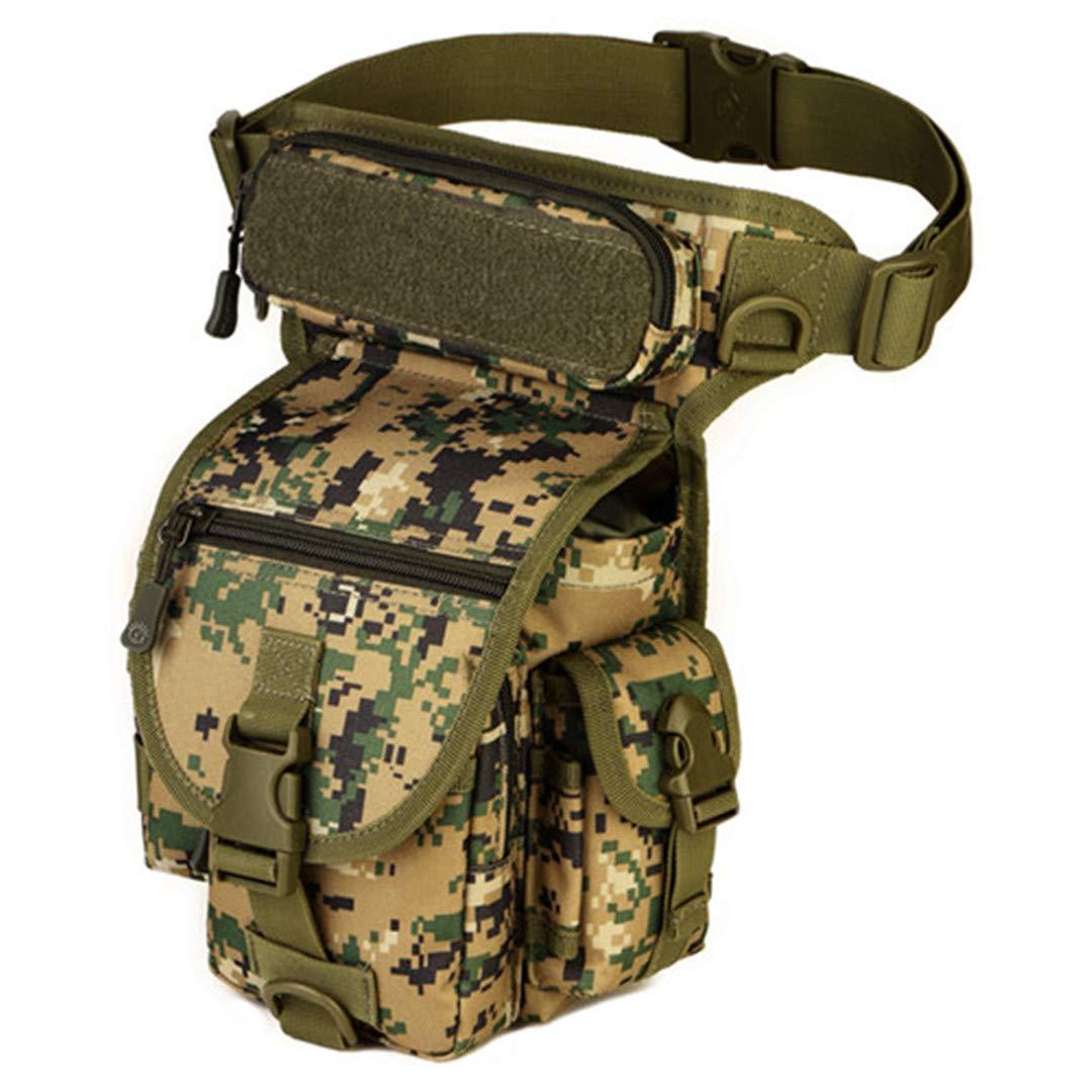 Fashion personality Men Waterproof Nylon Leg Bags MOLLE System Waist Pack Men Belt Fanny Pack D528