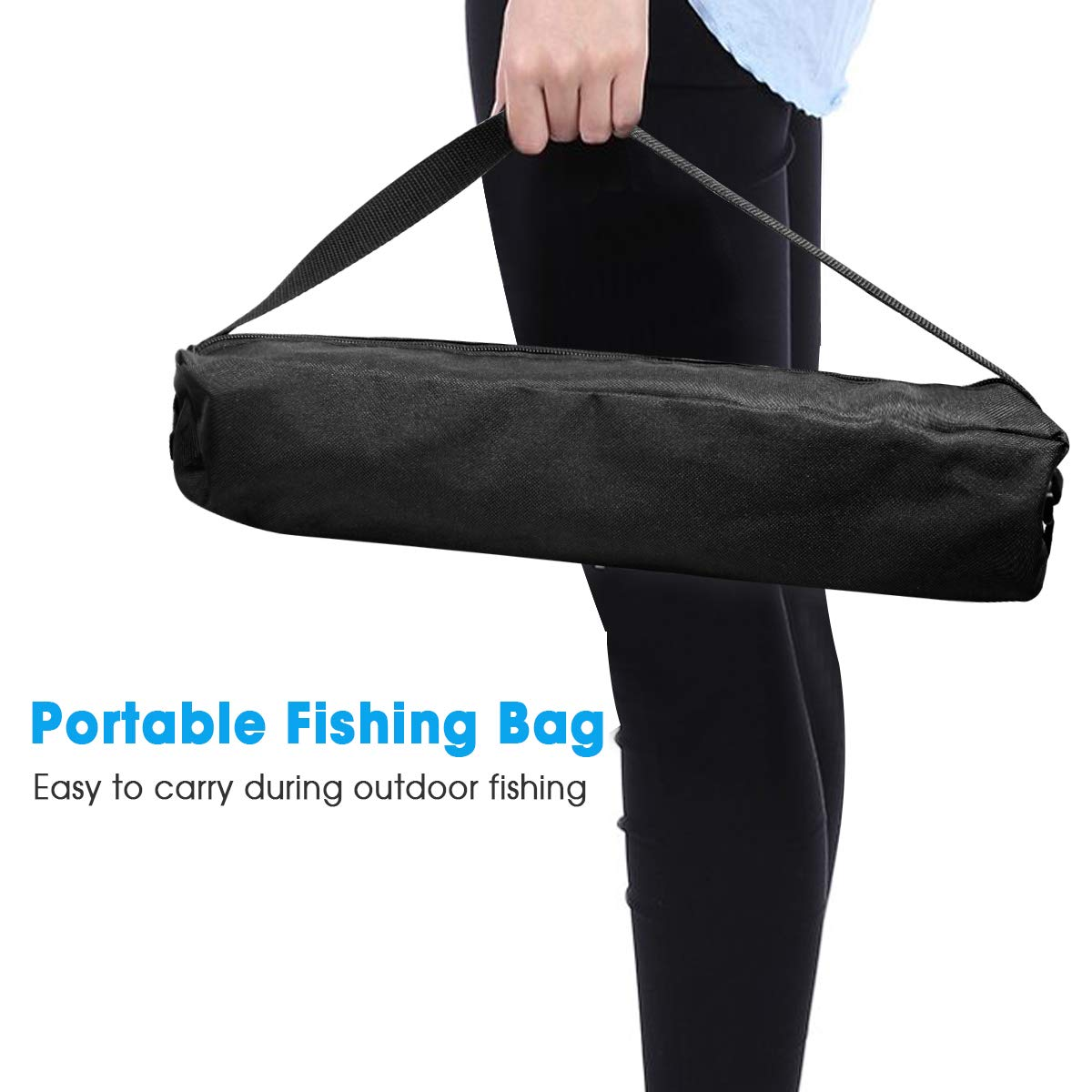 Telescopic Fishing Rod Set,FishOaky Spinning Fishing Gear Organizer Pole Sets with Full Kits Lure Case and Carry Bag  for Saltwater &Freshwater Kids&Adult by FishOaky (Image #4)
