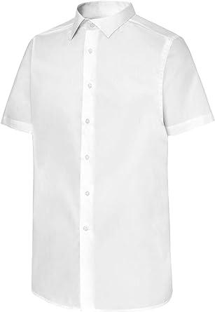 Camisa de Camarero Manga Corta Cuello Italiano Hombre. Ropa ...