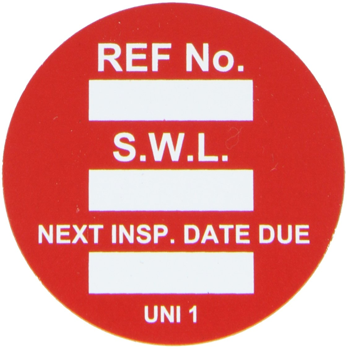 Brady  UNI-UNI RED, Red Universal Tag INSERTS SAFE WORK LOAD 100/Package RED (100 Tags)