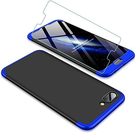 Funda Huawei Honor 10 360 Grados Azul Negro Ultra Delgado Todo ...