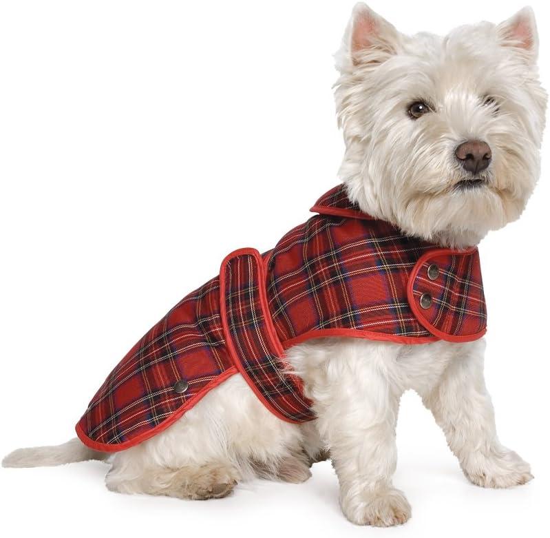 Abrigo de Muddy Paws para Perros con Estampado tartán escocés