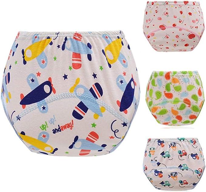 Baby Pull-Ups Learning Pants Ropa interior Paño algodón Pañal ...