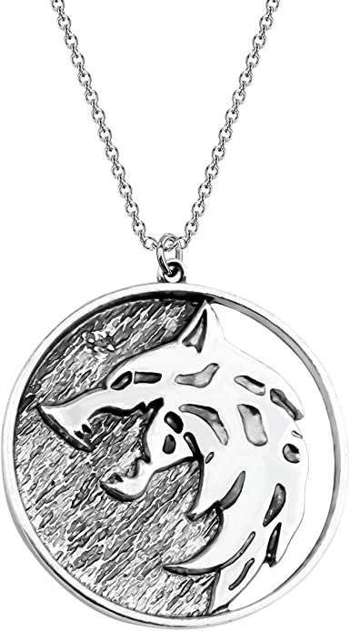 Witcher Medallion Necklace Wolf Head Pendant Necklace Keychain Witcher Gifts Wolf School Medallion Gifts Wolf Jewelry