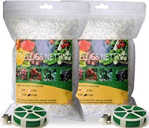 POURIN 10x30 2 Pack Garden Trellis Netting for Climbing Plant Polyester Material Plant Support Plants Grow UP