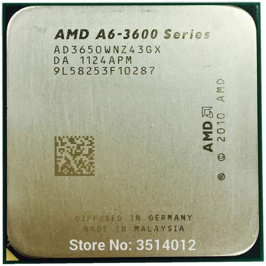 AMD A6-Series A6-3650 A6 3650 2.6 GHz Quad-Core CPU Processor AD3650WNZ43GX Socket FM1