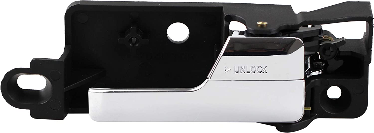 BOXI Interior Rear Right Passenger-Side Chrome Door Handle For 2006-2012 Ford Fusion 2007-2012 Lincoln MKZ 2006 Lincoln Zephyr 2006-2011 Mercury Milan (Replaces 6E5Z 5422600-A, 6E5Z5422600A)