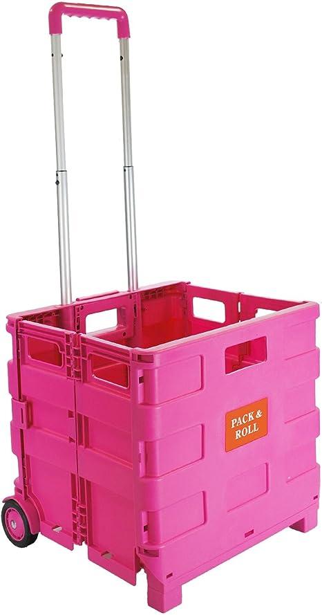 Rose Pliable Shopping Trolley panier COFFRE VOITURE PLIABLE Boîte de rangement 25 kg 35 kg