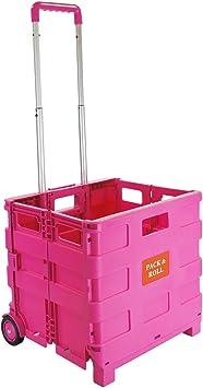Carrito de la compra plegable de plástico – ligero carrito de libros ...