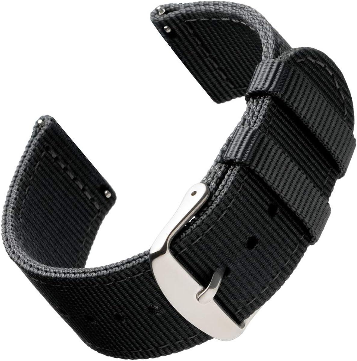 Archer Watch Straps | Repuesto de Correa de Reloj de Nailon para Hombre y Mujer, Correa Fácil de Abrochar para Relojes y Smartwatch, 18mm, 20mm, 22mm