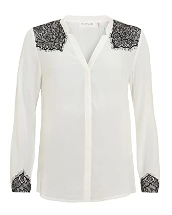 7ed4c3cbba781e Rosemunde Womens Elvida Contrast Lace Detail Blouse: Amazon.co.uk: Clothing