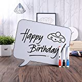 Light Up Box, AGM Handwriting Light Up Box with 3 Erasable Pens, A4 Size Speech Bubble Cinematic White LED Message Board