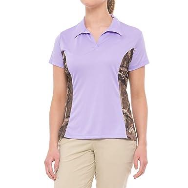 feb03d31 Bimini Bay Women's Camo Insert Polo Shirt at Amazon Women's Clothing store:
